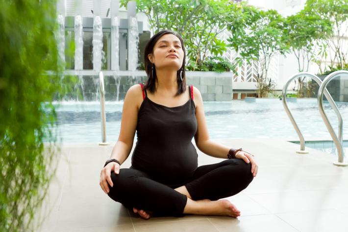 Дыхательная гимнастика для беременных польза 70