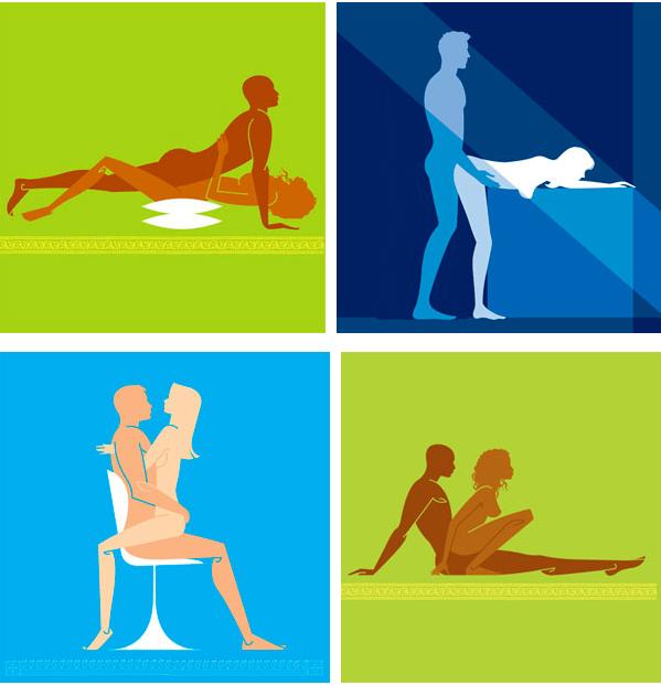 Секс позы для пары в рисунках
