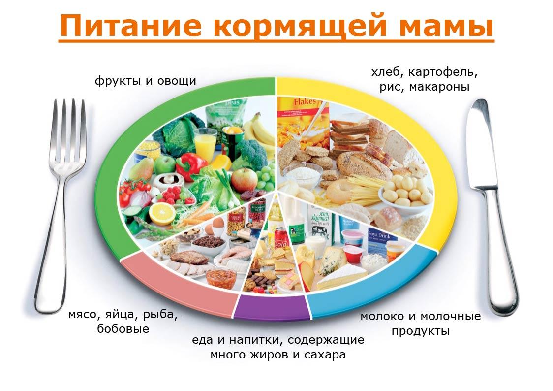 рацион питание кормящей матери схема
