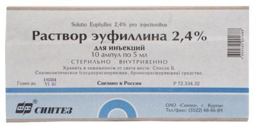 Мочегонное при беременности эуфиллин