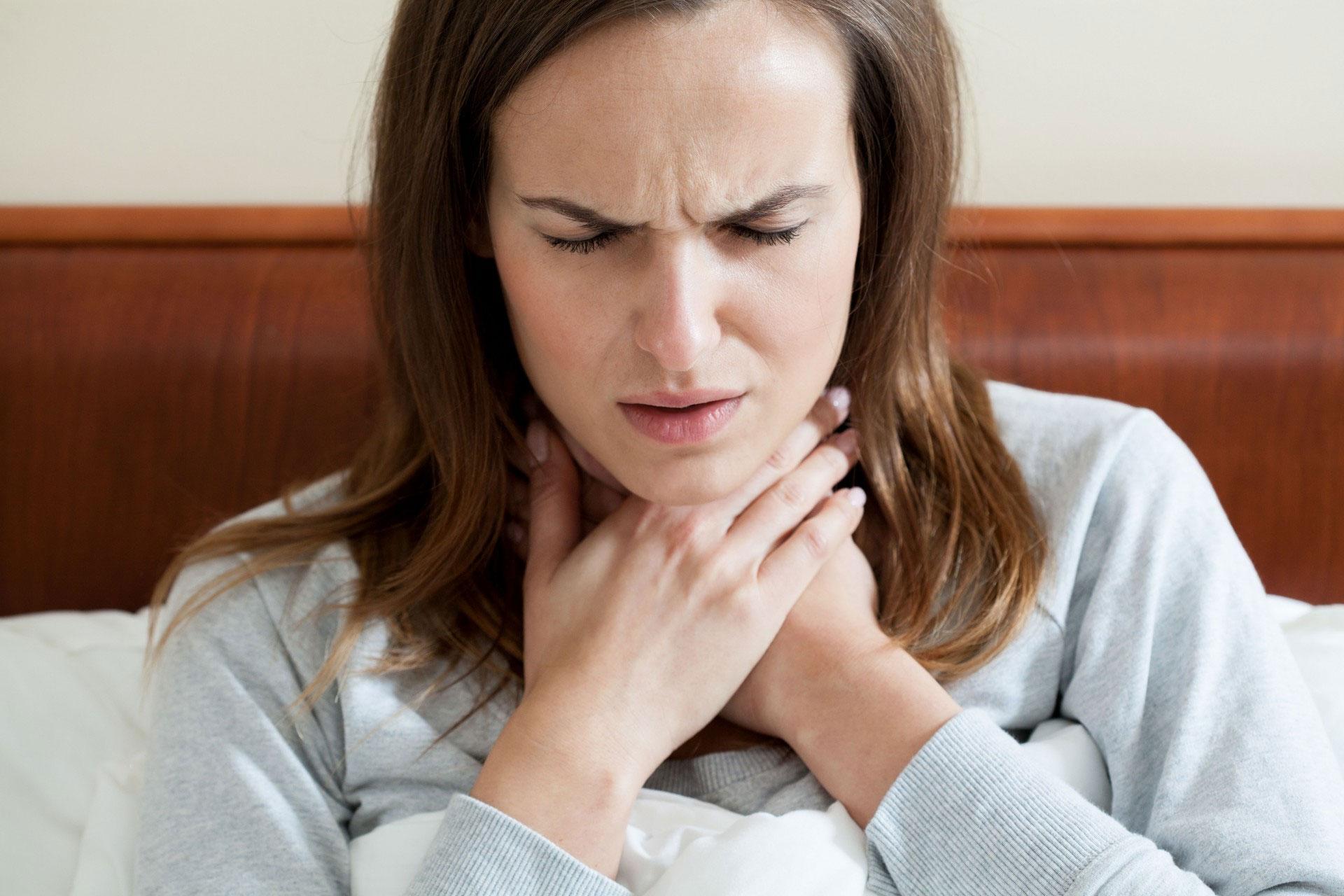 У беременных болит горло 40